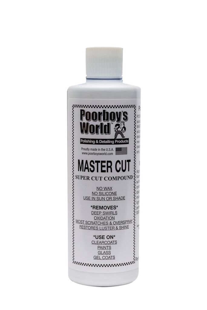 Poorboys PB-MC16 Car Cleaning Valeting Polishing Wax Mastercut Compound 473ml