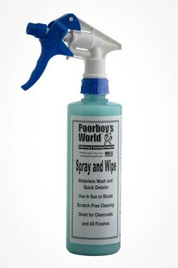 Poorboys PB-SW16 Car Cleaning Valeting Polishing Wax Spray And Wipe 473ml Thumbnail 1