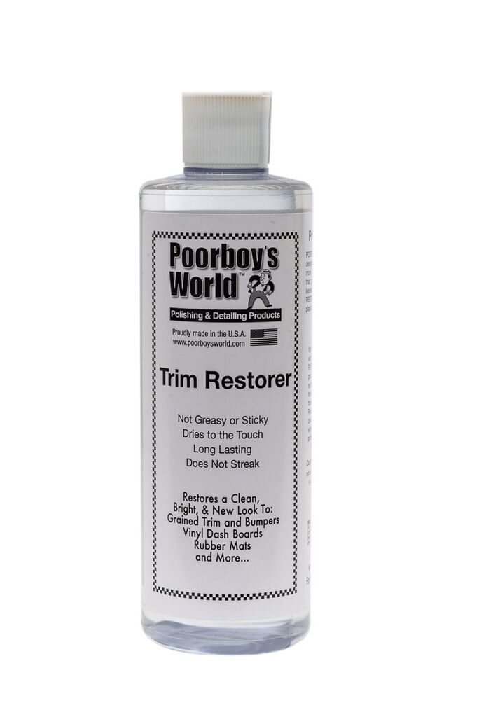 Poorboys PB-TR16 Car Cleaning Valeting Polishing Wax Trim Restorer 473ml