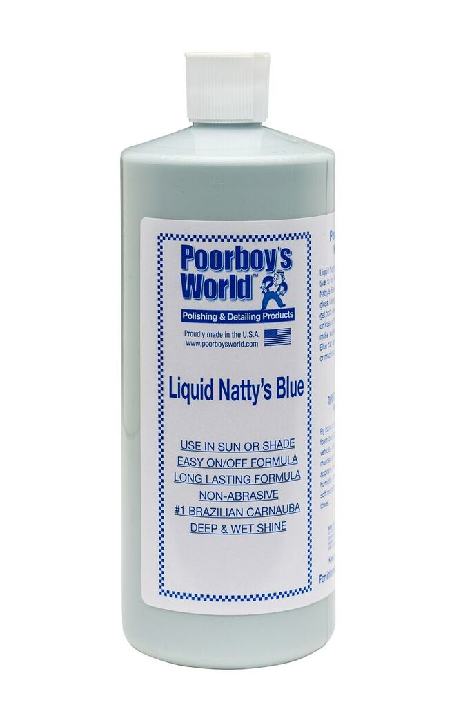 Poorboys PB-LNB32 Car Cleaning Valeting Liquid Nattys Blue Wax 946ml