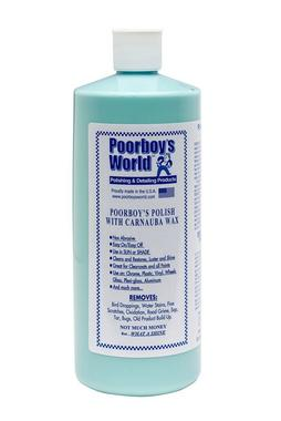 Poorboys PB-PCB32 Car Cleaning Valeting Polish With Carnauba Blue 946ml Thumbnail 1