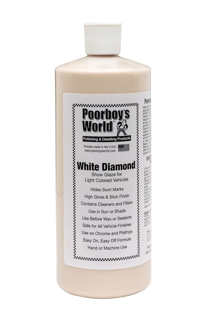 Poorboys PB-WD32 Car Cleaning Valeting Polishing Wax White Diamond 946ml