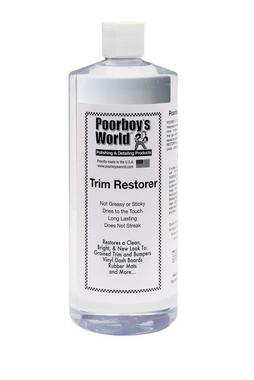 Poorboys PB-TR32 Car Cleaning Valeting Polishing Wax Trim Restorer 946ml Thumbnail 1