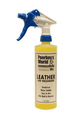 Poorboys PB-AFL16 Car Cleaning Valeting Air Freshener Leather 473ml Thumbnail 1