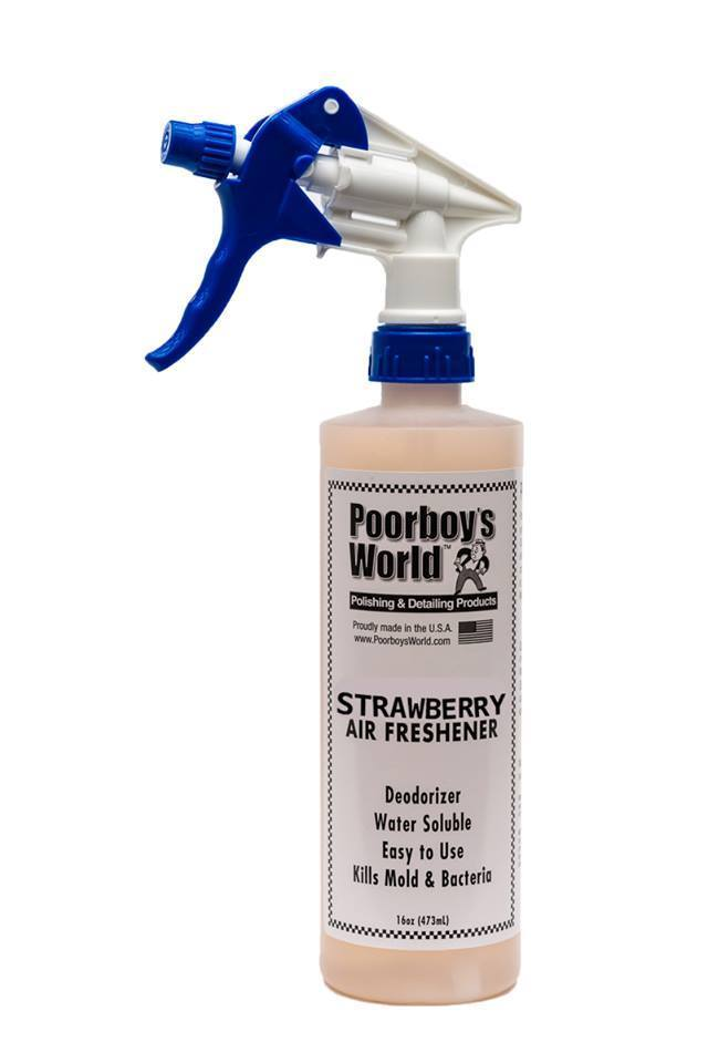 Poorboys PB-AFSB16 Car Cleaning Valeting Air Freshener Strawberry 473ml
