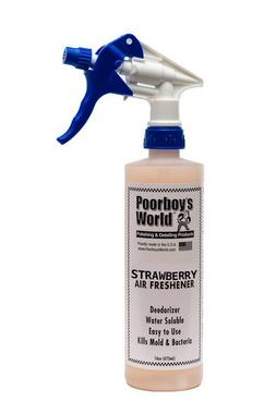 Poorboys PB-AFSB16 Car Cleaning Valeting Air Freshener Strawberry 473ml Thumbnail 1