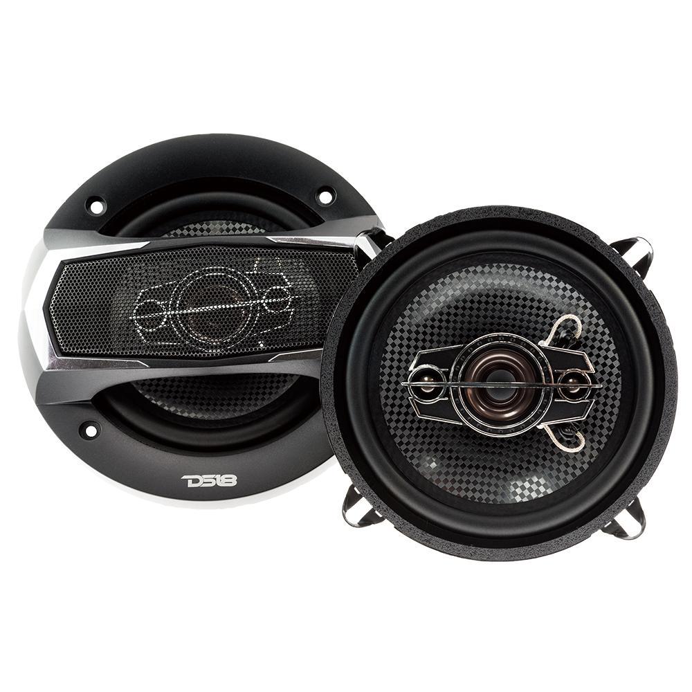 "DS18 Car Coaxial Speakers 5.25"" Inch 160w Watt 4Ohm 4 Way SLC-N525X Pair"