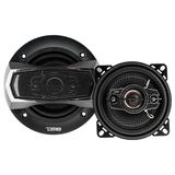 "DS18 Car Coaxial Speakers 4"" Inch 140w Watt 4Ohm 4 Way SLC-N4X Pair"
