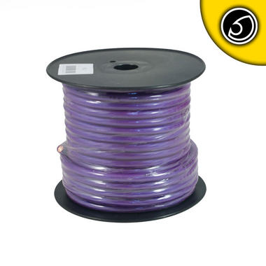 Bassface PWP4.2 OFC 4AWG 21mm Purple Power Wire Cable Spool 30m 1862 Strand Thumbnail 2