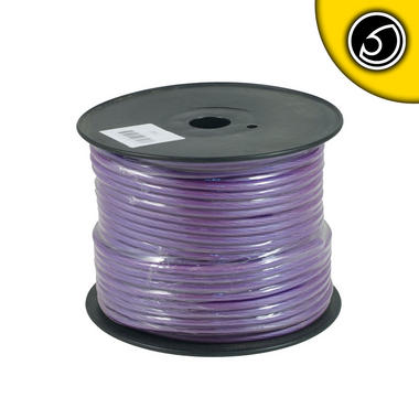 Bassface PWN8.2 OFC 8AWG 8.4mm Purple Power Wire Cable Spool 75m 728 Strand Thumbnail 2