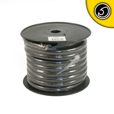 Bassface PWN00.1 OFC 00AWG 53mm+ Black Negative Wire Cable Spool 15m 5929 Strand Thumbnail 2