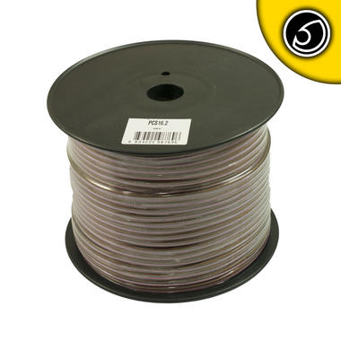 Bassface PSC16.2 150m Roll 16AWG 1.5mm Pure OFC Speaker Cable Wire 112 Strand Thumbnail 2