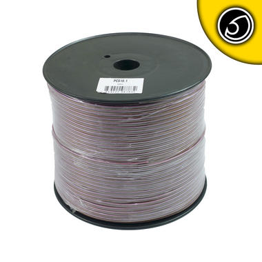 Bassface PSC18.1 300m Roll 18AWG .82mm Pure OFC Speaker Cable Wire 70 Strand Thumbnail 2