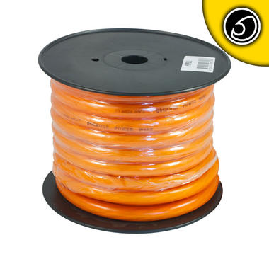 Bassface PWP00.2 CCA 00AWG 53+mm Orange Power Wire Cable Spool 15m 5929 Strand Thumbnail 2
