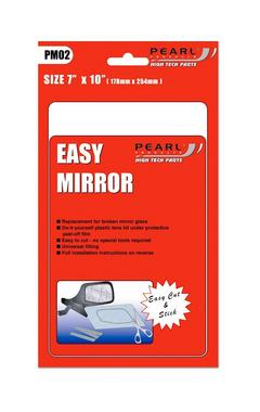 """Pearl High Tech PM02 Easy Replacement Cut To Size Mirror Glass 7"""" X 10"""" Inch Single Thumbnail 1"""