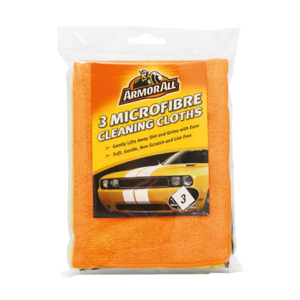 Armorall 40075EN Car Detailing Microfibre Cleaning Cloths 3 Pack 3 Pack