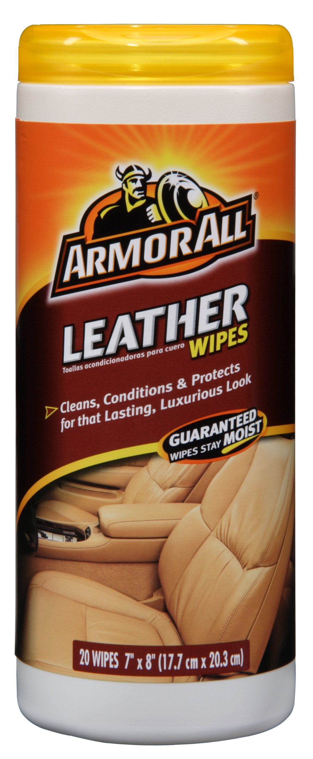 thompsons ltd armorall clo39024en car detailing interior leather seat cleaning wipes single. Black Bedroom Furniture Sets. Home Design Ideas