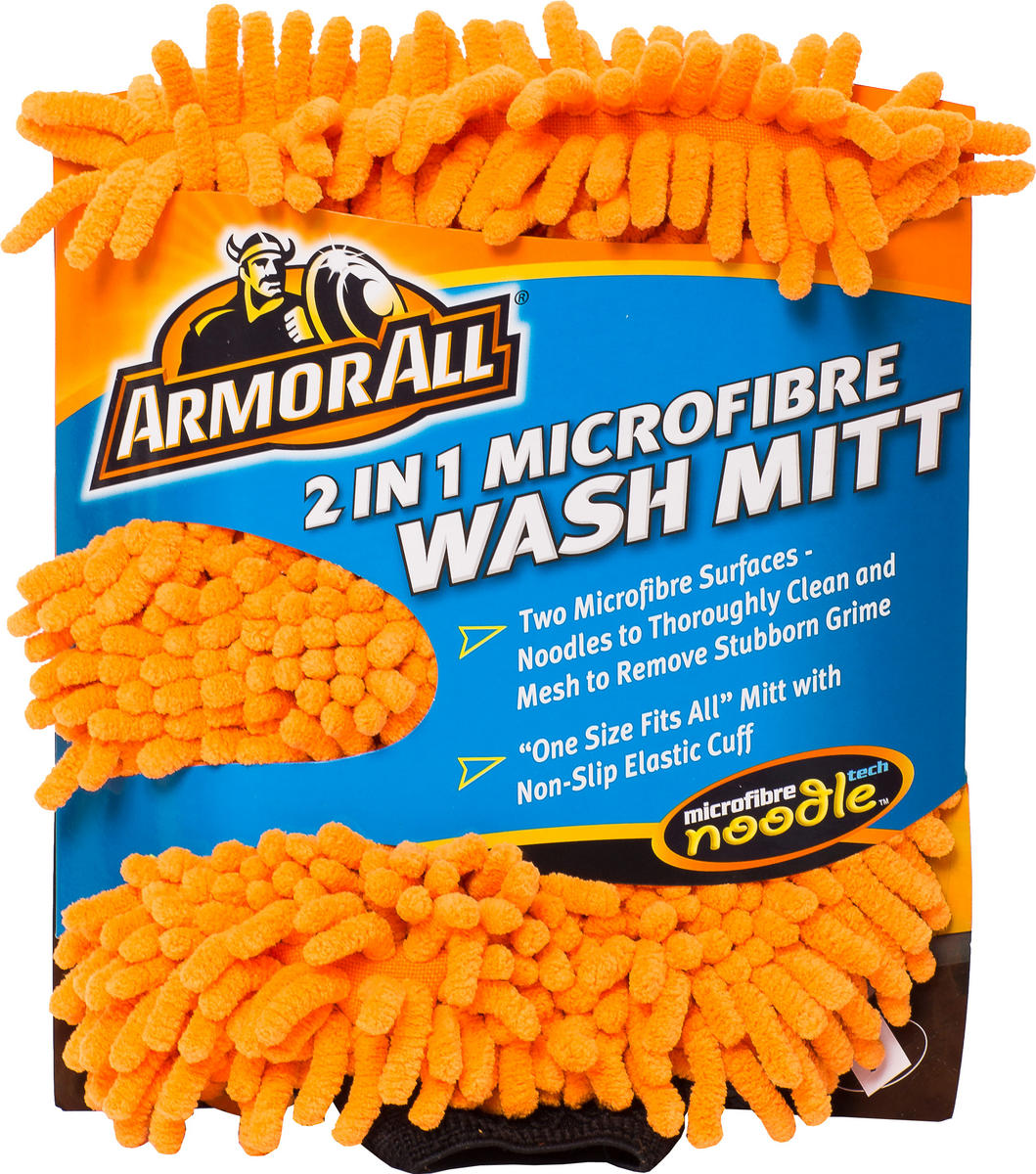 Armorall CLO40005EN Car Cleaning 2 In 1 Microfibre Noodle Wash Mitt Single