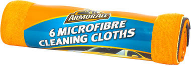 Armorall CLO40010EN Car Cleaning Exterior Microfibre Cleaning Cloths 6 Pack Thumbnail 1