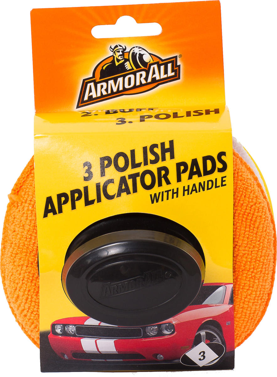 Armorall CLO40015EN Car Cleaning Polishing Applicators with Handle 3 Pack