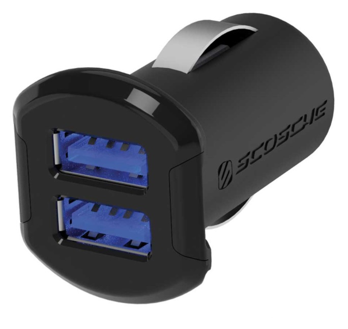 Scosche USBC242M Dual 12W Car Usb Charger With Illuminated Ports