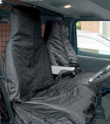 Streetwize SWSC13 Automotive Black Water Restistant Nylon Van Seat Covers Pair