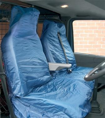 Streetwize SWSC15 Automotive Blue Water Resistant Nylon Van Seat Covers Pair Thumbnail 1
