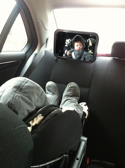 Streetwize SWBM5 Large Adjustable Baby Safety Inspection Mirror Single