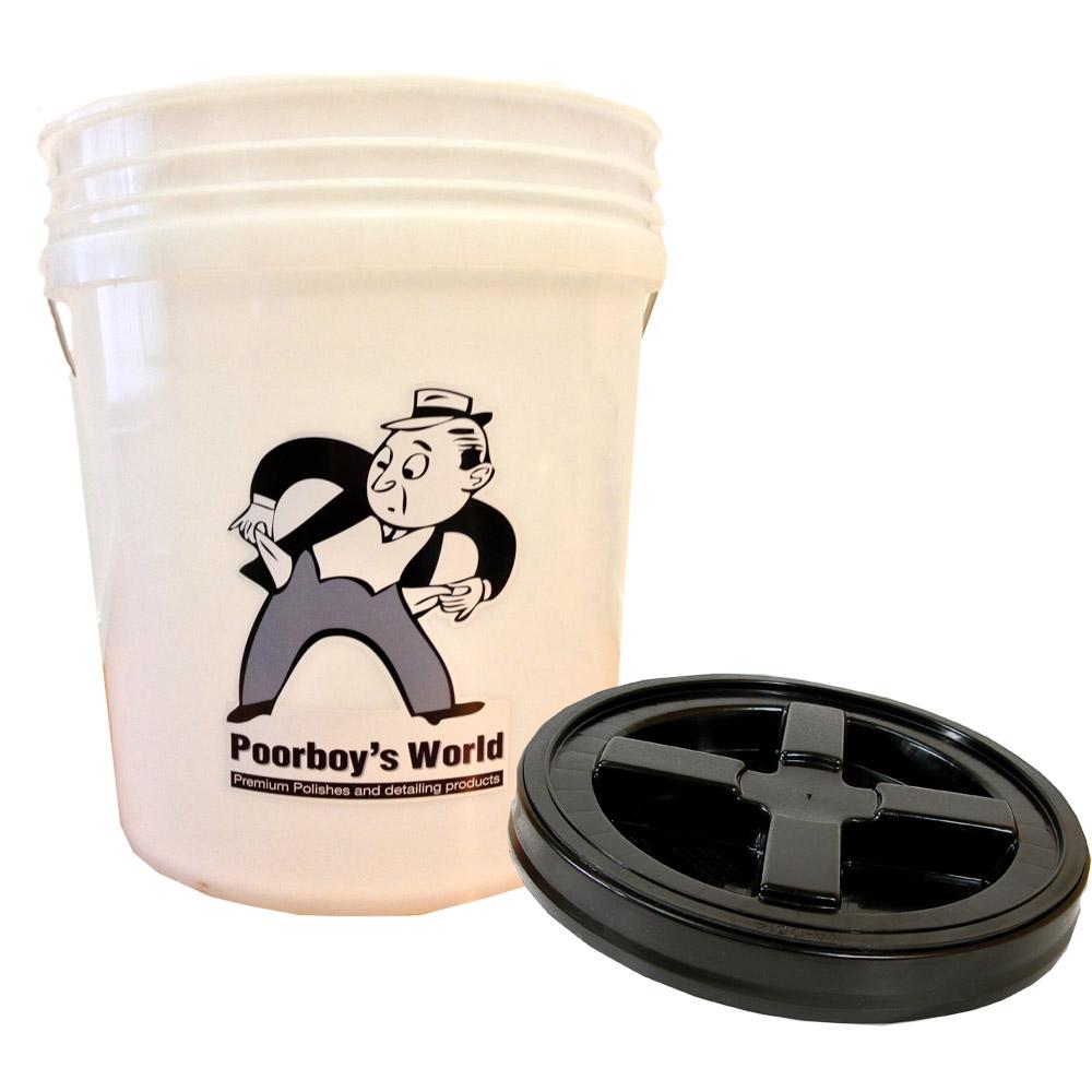 Poorboys PB-Bucket Car Cleaning Valeting ShampooWash Bucket With Gamma Seal Lid