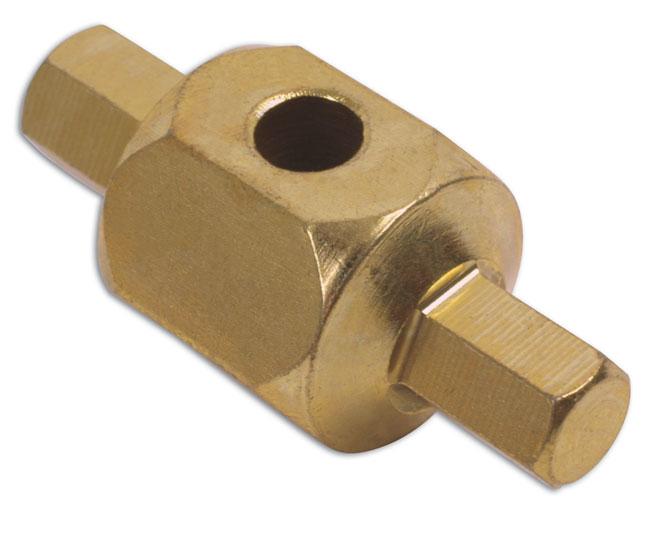 """Laser 1577 Car Servicing Garage 9mm 5/16"""" Drain Sump Oil Plug Key BMW Ford Single"""