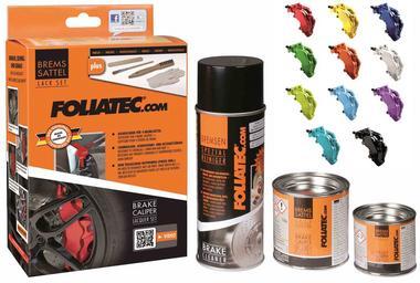 Foliatec FT2164 Brake Caliper Paint Car Van Bike Black 3 Part Gloss Kit Thumbnail 4