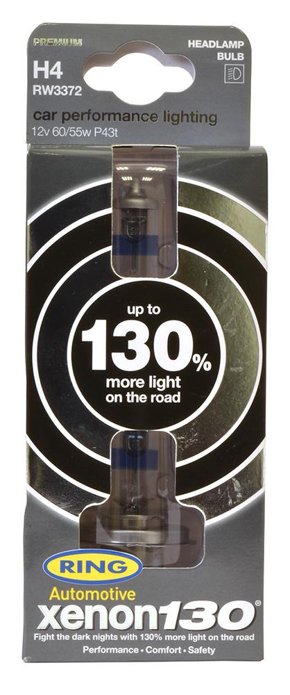 Ring Automotive RW3377 12V 55W 448 H7 130% Xenon Professional Headlight Bulbs Pair