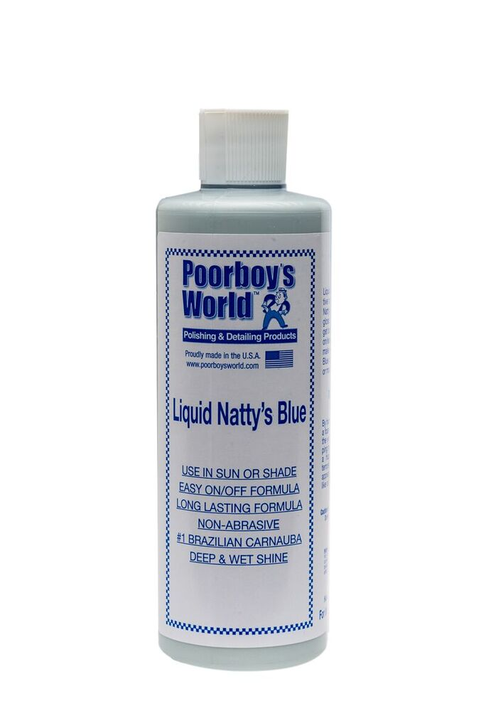 Poorboys PB-LNB16 Car Cleaning Valeting Liquid Nattys Blue Wax 473ml