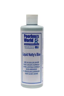 Poorboys PB-LNB16 Car Cleaning Valeting Liquid Nattys Blue Wax 473ml Thumbnail 1