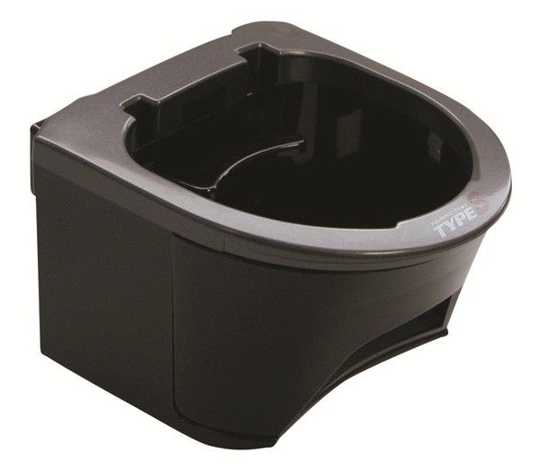 Type S DH02772 Charcoal Grey Combo Twin Drink Holder Single