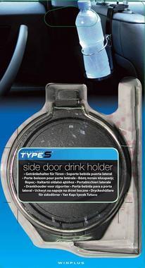 Type S DH50725 Black Side Door Drink Holder Single Thumbnail 1