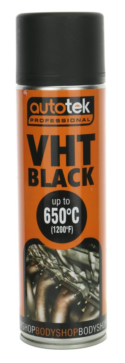 Autotek AT0VHTB500 VHT Very High Temperature Extreme Matt Black Spray Paint 500ml