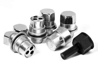 Trilock GHB M12 x 1.5 19mm FLAT Locking Wheel Nut For Jaguar Thumbnail 1