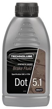 Technolube ADB500 DOT 5.1 Car Van 500ml Brake Fluid