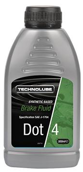 Technolube ADF500 DOT 4 Car Van 500ml Brake Fluid