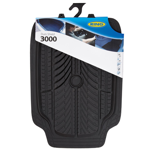 Ring Automotive RMAT15 Heavy Duty Rubber Car Mats Dura Shield 3000 Black Set