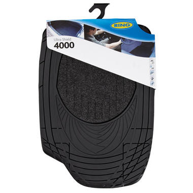 Ring Automotive RMAT17 Car Mats Ultra Shield 4000 Black Set Thumbnail 1