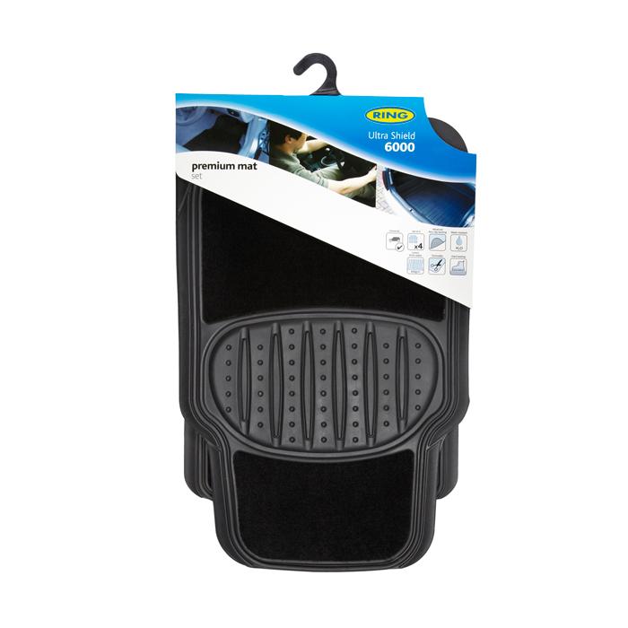 Ring Automotive RMAT26 Car Mats Ultra Shield 6000 Black Set