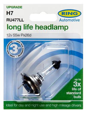 Ring Automotive RU477LL Car Van 12V 55W H7 Headlamp Long Life Bulb Single Thumbnail 3