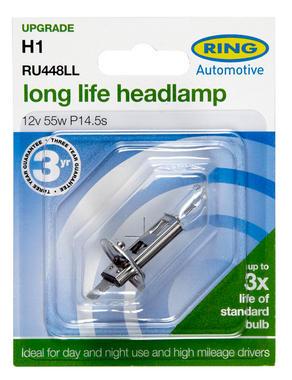 Ring Automotive RU448LL Car Van 12V 55W H1 Headlamp Long Life Bulb Single Thumbnail 2