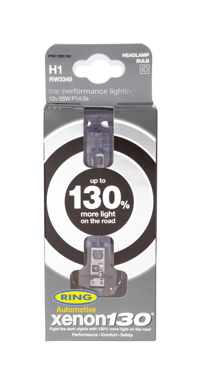 Ring Automotive RW3348 12V 55W 448 H1 130% Xenon Professional Headlight Bulbs Pair