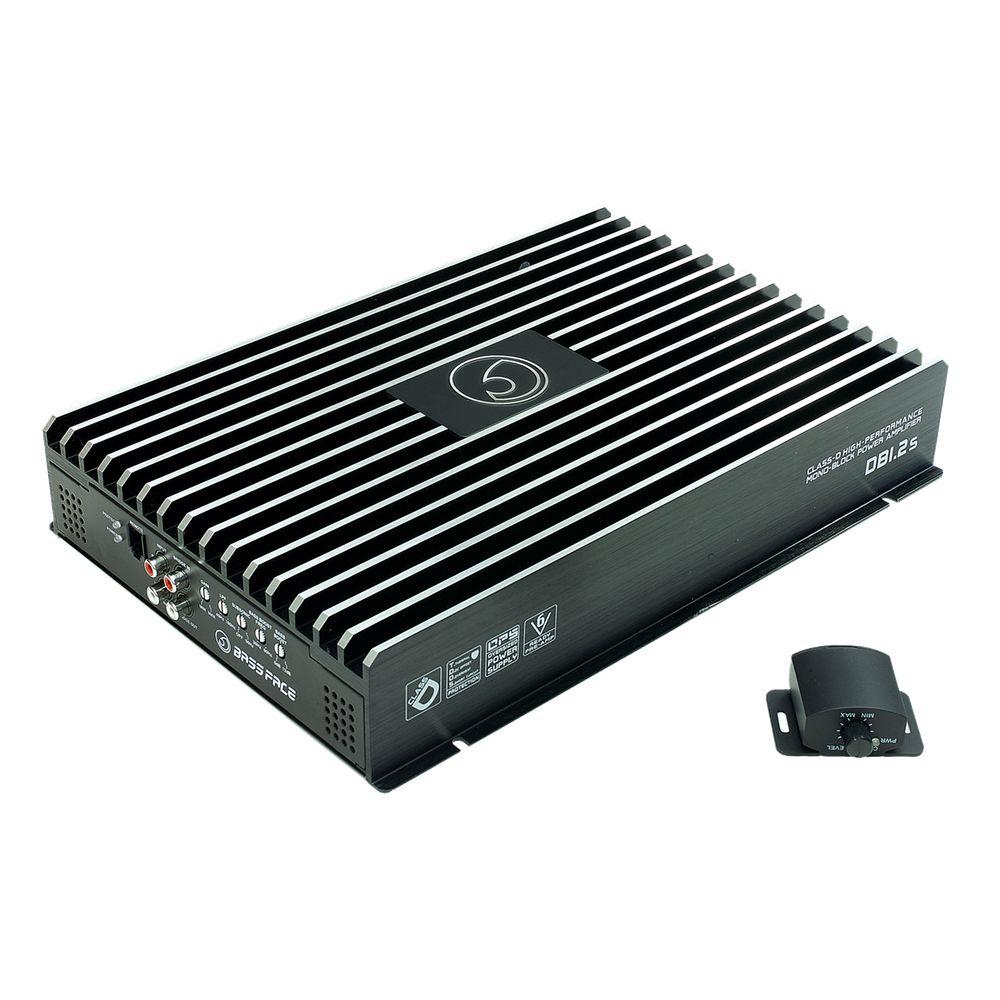 Bassface DB1.2s 1610w 1Ohm Class D Monoblock Car Woofer Amplifier Mono Sub Amp