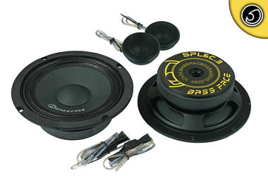 "Bassface SPL6C.3 6.5"" Inch 16.5cm 4Ohm Car Component Speaker & Tweeter Kit 800w Thumbnail 1"