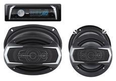 "DS18 PKG-36D Marine Stereo CD DVD Radio MP3 6"" 6x9"" Speakers 460 Watts Kit"