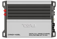 DS18 CANDY-X2SL Silver Car Audio 800 Watt 2 Channel Class D Amplifier Single